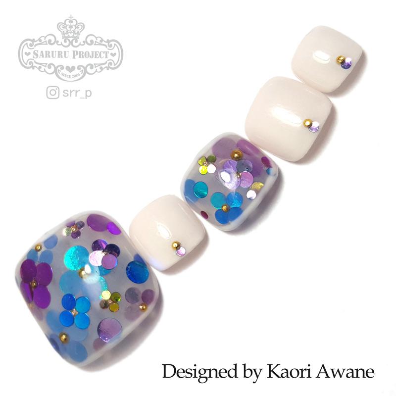 322 紫陽花ネイル