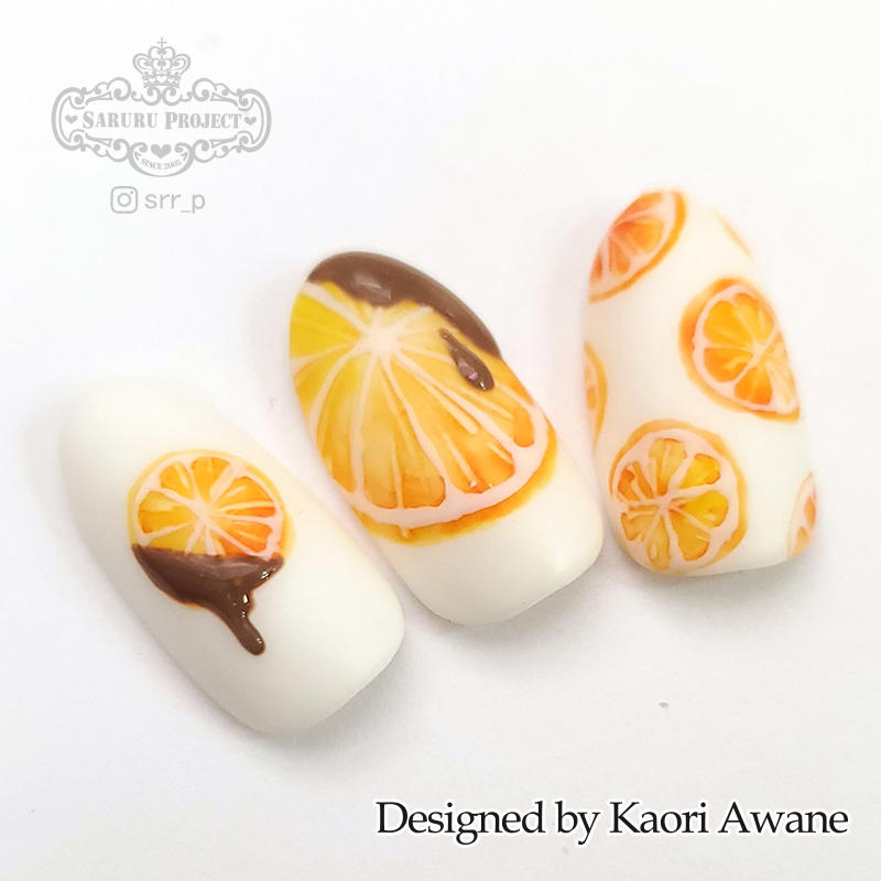 オレンジチョコネイル マルチ