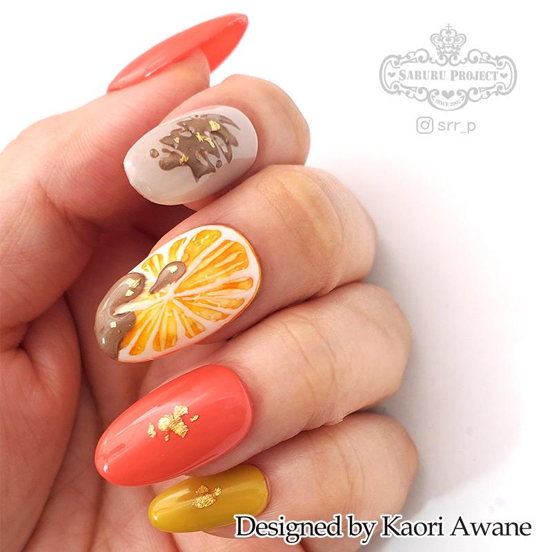 オレンジチョコネイル チョコオレンジ