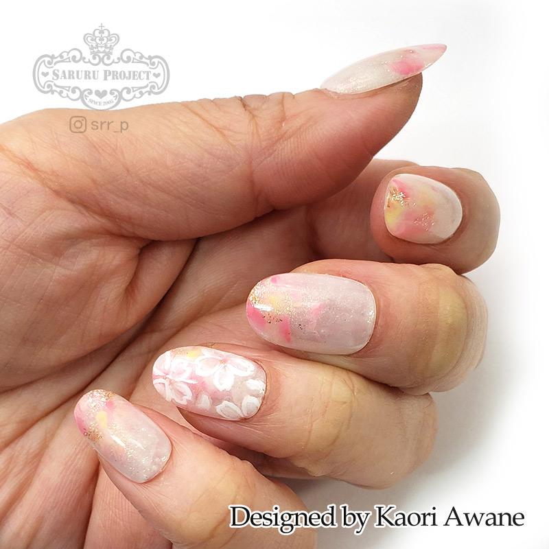 手描き桜ネイル ピンク